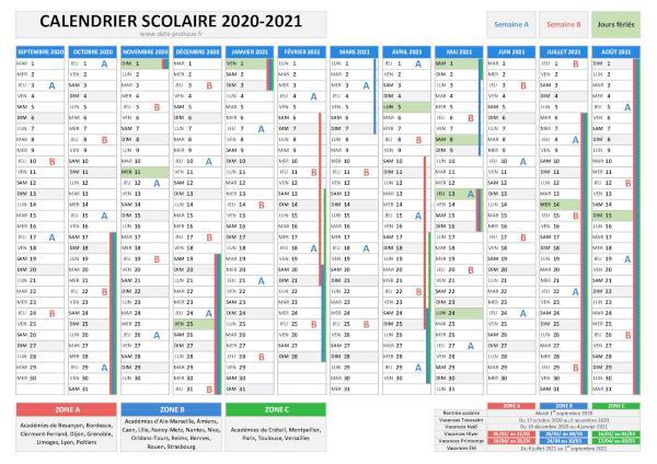 Calendrier 2022 2023 Classe Vacances scolaires et rentrée des classes 2021 2022   Calendrier